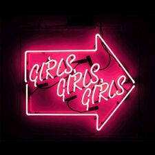 Girls Girls Girls Beer Bar Wall Decor Arrow Neon Sign Light  Pub Home Room