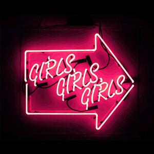 """14""""x9""""Girls Girls Girls Arrow Neon Sign Light Party Beer Bar Pub Wall Decor Art"""