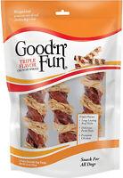 Good'n'Fun Crunchy Spirals Beef/Chicken 5 Inch - 3ct