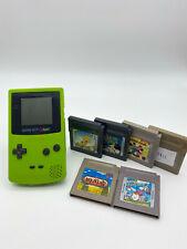 Nintendo Game Boy Color - 6 Spiele - Grün - Ton defekt - GB Color