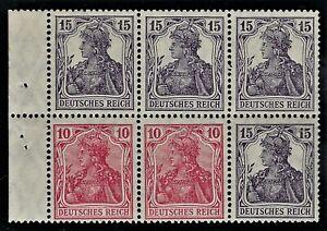 "GERMANY 1919 ""GERMANIA""  Booklet Pane  Broschurenfenster:  H-Blatt #21   Mint/NH"