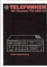 Telefunken Bedienungsanleitung für TRX 3000 hifi in deutsch