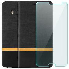 Schutz Glas 9H + Zanasta Case für HTC U11 - Flip Tasche Schutz Hülle Cover Etui