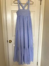 NWT - BLOGGER FAVS SKY BLUE PINK Dotted H&M SLEEVELESS LONG DRESS, Size 6