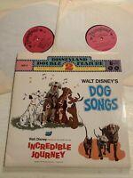 Walt Disney's Dog Songs / Incredible Journey 2 X LP Disneyland 1972 Top M-/M-!