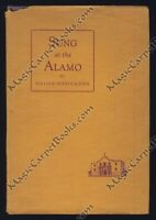 1937 SUNG AT THE ALAMO Poetry TEXAS REVOLUTION Texans HISTORY Western Americana