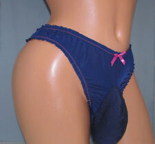 Jessica's Navy Bikini  SISSY POUCH PANTIES Crossdress for Men Sz 30-50 L