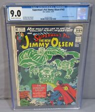 SUPERMAN'S PAL JIMMY OLSEN #143 (Jack Kirby Cover, Story) CGC 9.0 VF/NM DC 1971