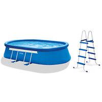 "Intex 18' x 10' x 42"" Oval Frame Pool Set with 1000 GPH Filter Pump| 28191EG"