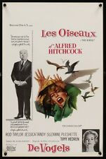 BIRDS Belgian movie poster 14x22 ALFRED HITCHCOCK TIPPI HEDREN