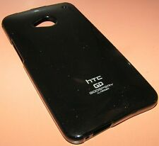 Mercury High Grade Jelly Soft Case for HTC One M7, Black with high gloss finish