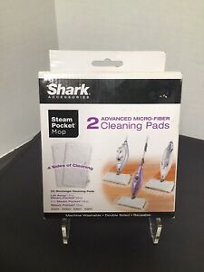 Shark Advanced Micro-fiber Cleaning Pads Double Sided Reusable Rectangle NIB