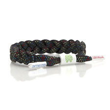 100% AUTHENTIC RASTACLAT Andy Black Multi-Colored Dot Patten Wristband NEW!