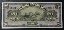 COSTA RICA BANKNOTE 20 Pesos, Pick S165R UNC 1899 (EL Banco de Costa Rica) ship