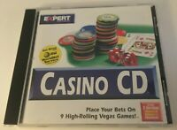 Expert Software Casino CD Rom Windows 95 and 3.1 & Macintosh 9 Vegas Games F/S