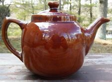 ANTIQUE YELLOW WARE POTTERY TEAPOT - MARKED USA