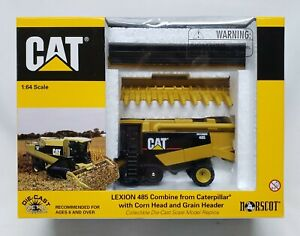 Caterpillar Cat Lexion 485 Combine With Corn & Grain Head 1/64 Scale By Norscot
