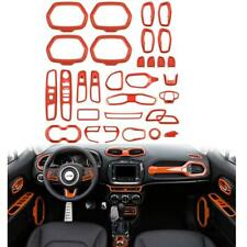 31pcs Orange Interior Accessories Parts Decoration Cover Trim For Jeep Renegade