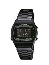 Casio Retro Illuminator Digital Black Stainless Steel 50M B640WB-1B Watch