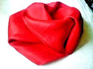 "100% PURE INDIAN SILK HANDMADE PLAIN RED LONG SCARF 10""x 70"" £9.50 NWT"