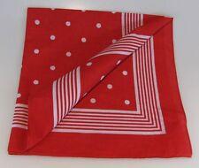 Halstuch große Punkte rot Vierecktuch 70x70cm Bandana Nikki maritimesTuch