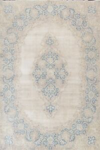 Antique Muted Distressed Hand-knotted Traditional Evenly Low Pile Area Rug 9x12