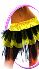 Adult Sexy Black Yellow Bumble Bee Tutu Petticoat Costume One Sz