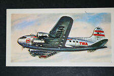 BOEING 307 STRATOLINER    TWA Airliner   Illustrated  Card # VGC