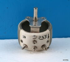 25W 1 KOhM   CERAMIC WIREWOUND POTENTIOMETER REOSTAT  RFT GERMANY