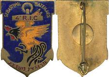 4° Régiment d'Infanterie Coloniale,crête et jabot rouge,tête noire,Pç A.B(3147)