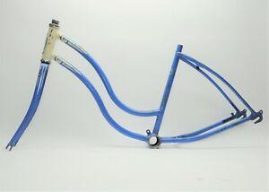 "VINTAGE 1955 SCHWINN BICYCLE 24"" WHEEL GIRL'S FRAME & FORK"