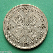 1928 George V Silver Florin Two Shillings SNo37504