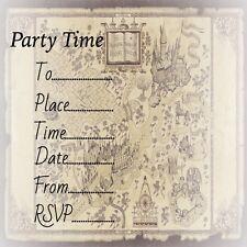 Buy harry potter theme invitation ebay party birthday invites invitations harry potter inspired 10 pack filmwisefo
