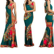Vintage Women Boho Style Sleeveless Long Maxi Dress Beach Party Cocktail Dresses