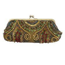 Vendula London Beaded Clutch Bag Or Evening Bag Hand Stitched