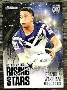 2021 NRL TRADERS '2020 RISING STARS' TRADING CARD - BRANDON WAKEHAM/BULLDOGS
