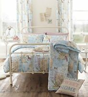 Catherine Lansfield Multi Vintage Postcard Duvet Set with Accessories(Optional)