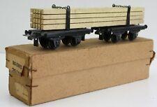 Trix Express 20/158 Langholzwagen Metal / verm. 1940er / Karton