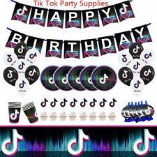 tik tok tiktok music Birthday Party Decorations Balloon supplies cupcake banner~