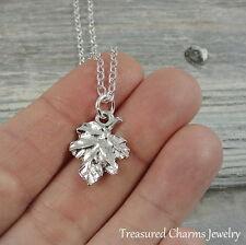 Silver Oak Leaf Charm Necklace - Autumn Fall Oak Tree Pendant Jewelry NEW