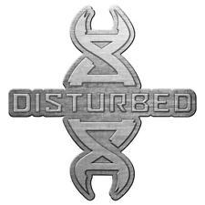 More details for official licensed - disturbed - reddna metal pin badge heavy metal