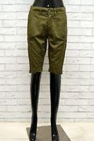 Pantaloncino DONDUP Donna Taglia 25 Pantalone Bermuda Pants Shorts Slim Cotone