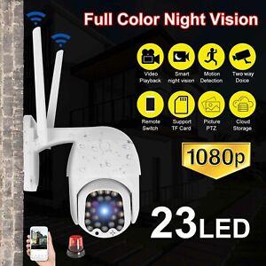Wireless 1080P WIFI IP Camera Outdoor CCTV HD PTZ Smart Home Security IR 360 Cam