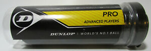 Dunlop Sports Professional XX Official Squash 3 Ball Tube Black W/2 Yellow Dots