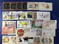 COMIC Greetings 29 Antique Postcards w Undivided Backs. Collector Items