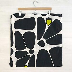 "Marimekko for Crate & Barrel: Bonbon Chartreuse Black & white 23"" pillow cover"
