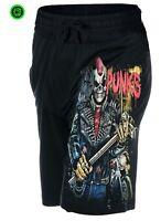 DEAD THREADS BIO HAZRAT GREEN CARGO TROUSERS Skull//Music//Metal//Punk//Biker//Shorts