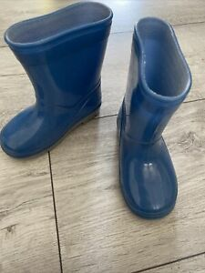 Baby Toddler Infant Size 4 Welly Bobs Wellington Boots Blue