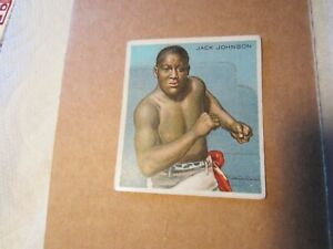 1910 HASSAN CIGARETTES JACK JOHNSON BOXING CARD FRONT VIEW