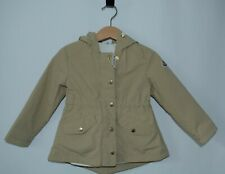 R 664 Baby Girl Moncler Coat Hooded Long Sleeve Brown Size 18-24 Months